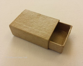 Small Match Box - Plain Cardboard Matchbox - Mini Craft Decorate Present Miniature Gift