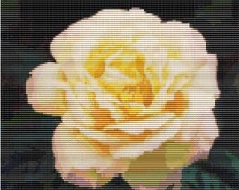 Peace Rose, bead pattern for loom or peyote