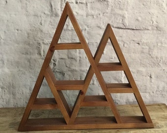 FLASH SALE: Rustic Mountain Geometric Display Shelf