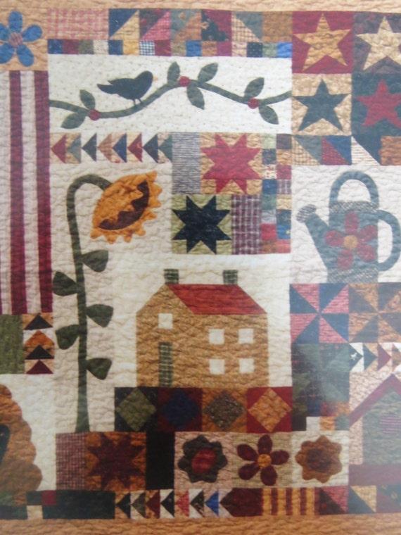 Blackbird at my window quilt pattern applique patchwork for Under the garden moon