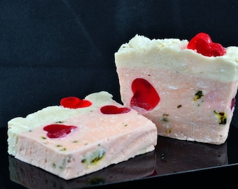 English Rose Handmade Soap Loaf 1.4 kg, Cold Process Soap Loaf
