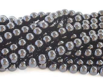 Black Onyx Round Gemstone Beads