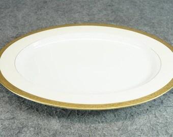 "T K Thuny Czechoslovakia 16"" Oval Serving Platter C. 1920S-30S"