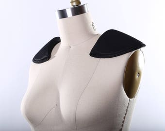 Shoulder Pads Pair of High Quality Fashion Shoulder Pads/ White Foam Shoulder Pads/ Black Shoulder Pads/ Dramatic Look for Blazers and Coats