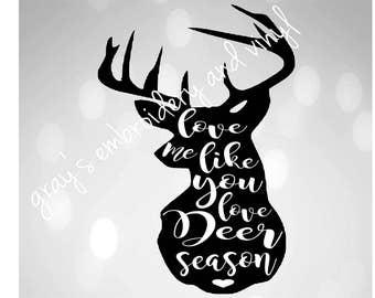 deer season svg dxf