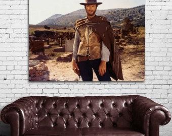 03 Clint Eastwood Western Cowboy Print