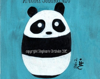 Baby Panda. Panda Art Print. Art Print. Cute Nursery Animal Print. Children's illustration, kids art print, poster.