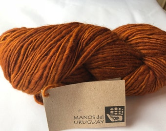 Wool Bulky Weight Yarn by Manos del Uruguay -- Handspun Pure Wool Kettle Dyed