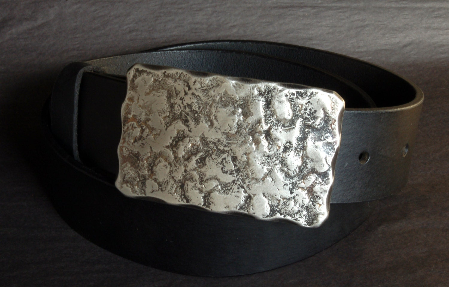Worker S Hand Forged Belt Buckle Dad Tough Wearing