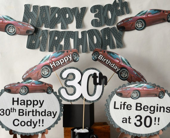 Race CAR Birthday Party Decorations Milestone 16th 18th