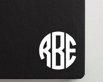 Circle Monogram Decal | Bible Cover Decal | Bible Verse Decal | Decal for Journal | Bible Sticker | Christian Decal | Initials Decal |