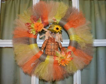 Fall Scarecrow Tutu Wreath