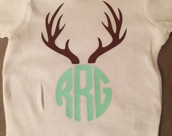 Antlers with Monogram