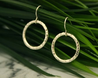 Infinity Silver Drop Earrings