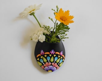 Magnetic Polymer Clay Flower Vase, refrigerator magnet, air planter