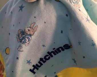Kids Preferred Goodnight Moon Plush Easter Bunny Blanky Security Baby Blanket Lovey - Monogrammed