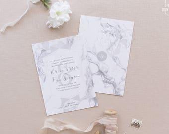 modern marble wedding invitations, printable wedding invitation, modern wedding invitation, marble save the date, marble invitation