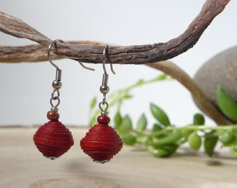 Earrings, ethical and eco-friendly LOKTA paper. 17 colors.