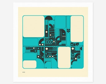 SYSTEMS 18 (Giclée Fine Art Print/Photo Print/Poster Print) Minimal Geometric Abstract Art