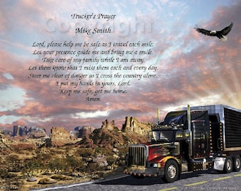 Personalized Trucker's Prayer Print