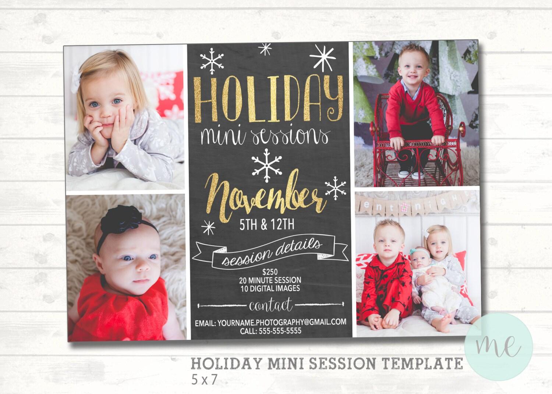 Christmas Mini Session Template. Christmas Photography Marketing ...