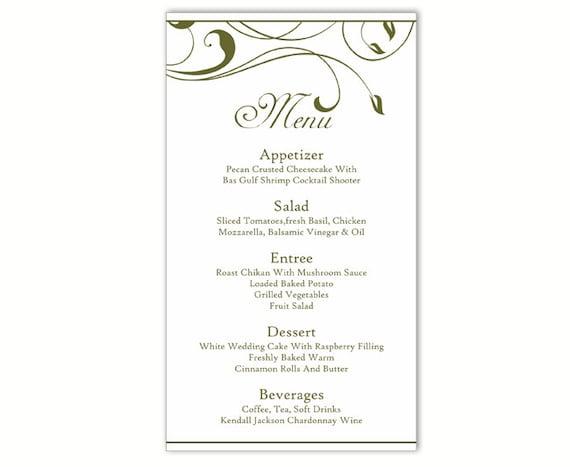 wedding menu card templates koni polycode co