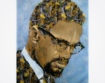 Malcolm X Camouflage 31X36