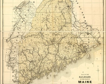 Poster, Many Sizes Available; Map Of The Railroads Of The State Of Maine 1899