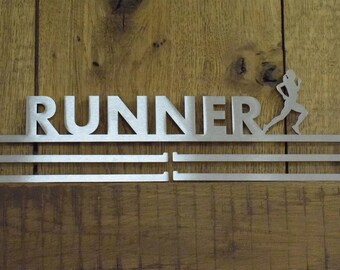 Medal Hanger Display 'Female Runner' Stainless Steel 2.0