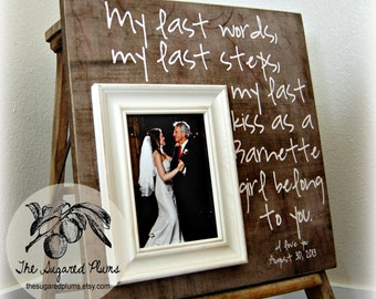 New Father of the Bride Gift, Father of the Bride Frame, Father Daughter Gift, Parents Thank You Gift Wedding, 16x16