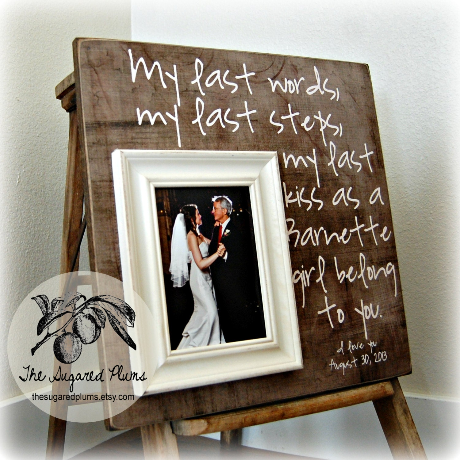 New Father of the Bride Gift Father of the Bride Frame