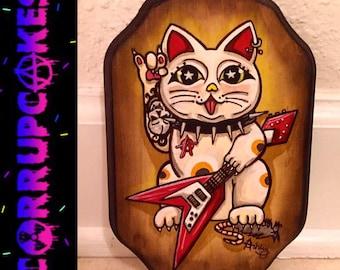 Glam Rawk Kitty: One Lucky Meowtha Phuckin' Kat