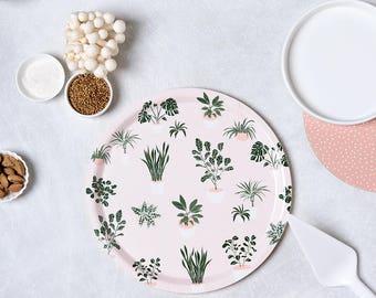 Plant Tray, Decorative Tray, Round Tray, Breakfast Tray, Modern Dining Decor, Kitchen Gift, Creative Gift Idea, Pink Tray