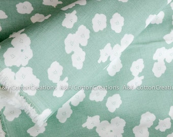 Double GAUZE ORGANIC Certified Cotton, Birch fabric, Pool Poppies print from Organic Double Gauze collection
