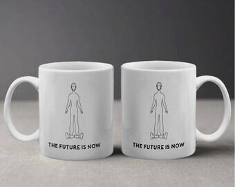 The Future is now Swegway Hoverboard Illustration Design Mug M1120