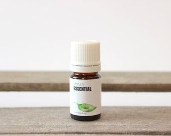 Sage Essential Oil - Aromatherapy Essential Oils, Herb Essential Oil, Garden Sage Essential Oil, Common Sage Essential Oil, True Sage Oil