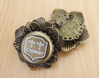 Chimay Dorée Flower brooch