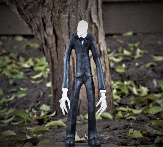 Slenderman creepypasta resin hand painted sculpture