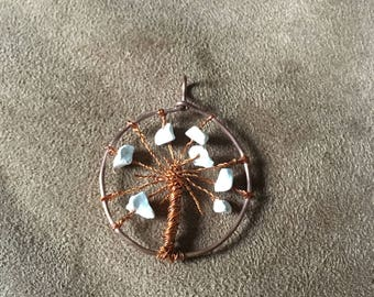 Copper Wire Tree Pendant