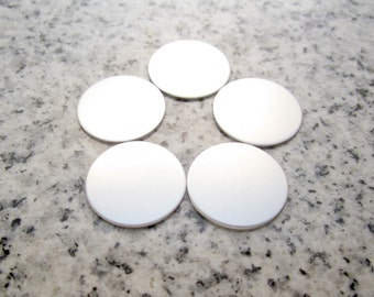 "11/16"" (17MM) Round Disc (for Small Floating Locket) Stamping Blanks, 22g Stainless Steel - AWESOME Silver Alternative R055"