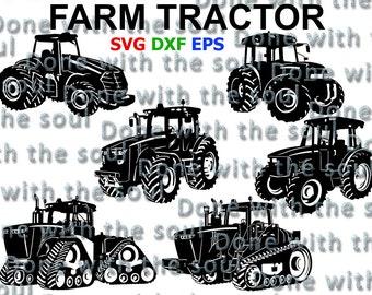 Tractor svg - Farm tractor svg - Car vector - Car Digital - Farm svg - Car cutting - Car silhouette - Car svg - Car Cut - Tractor Cut