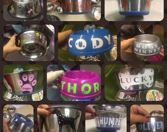 Personalised Plastic Pet Bowl