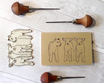Lamb print notebook | farm animals | Moleskine | Farmyard print | small Journal | Lined pages | Lino print | mini | Pocket size |