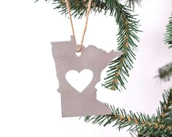 Minnesota Gift Ideas / Minnesota Ornament / Minnesota Love  / Love Minnesota Ornament / Minnesota / Made in Minnesota