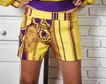 Yoga Shorts, Printed Shorts, Ladies Shorts, Bridesmaid Shorts, Bohemian Shorts, Elegant Shorts, African Shorts, Extravagant Pants