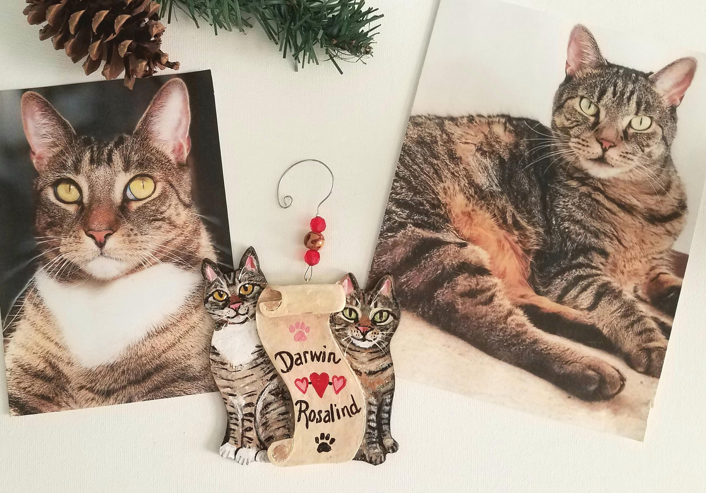 Benutzerdefinierte Katze Ornament personalisierte Katze