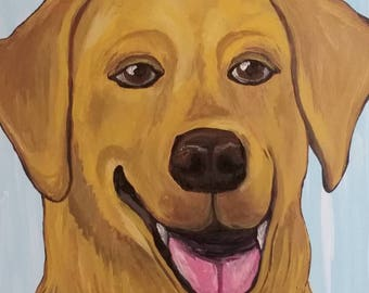 Golden Lab Painting