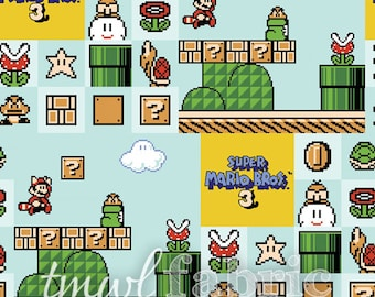 Woven Fabric - Nintendo Super Mario Brothers 3 - Fat Quarter Yard +
