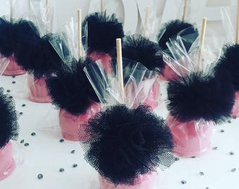 Minnie Mouse Inspired Candy Apples