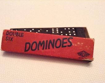 Vintage Dominoes Double Six Box Halsam Hermes